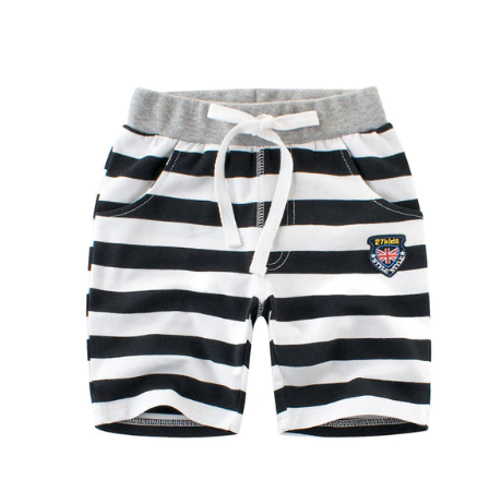 Loozykit Fashion Stripe Shorts Cotton Kids Trousers Children Pants