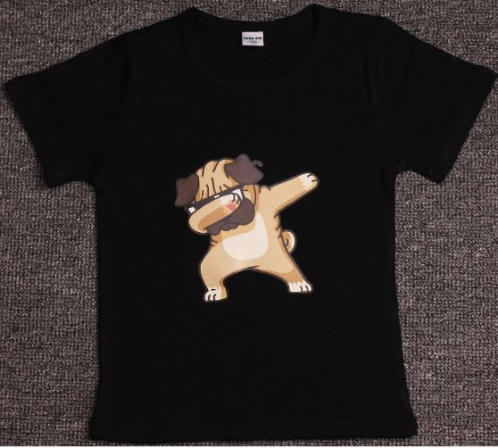 Children Summer T Shirt Dabbing Funny Cartoon Short Sleeve T-Shirts For Boys Girls Tops Kids