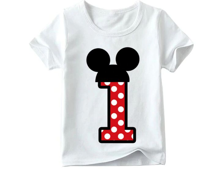 Baby Girls Happy Birthday Letter Bow Cute Print Clothes Children Funny T shirt,Kids Number 1-9 Birthday Present,