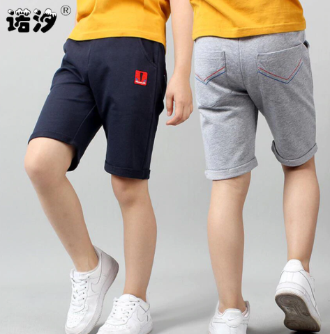 Kids trousers big boy high quality cotton shorts children summer thin beach pants