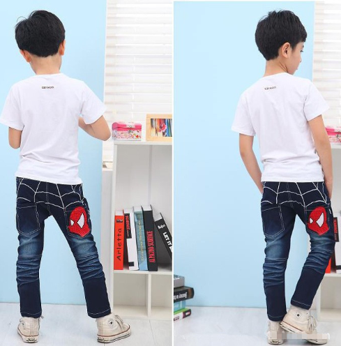 Kids Jeans Boys Cotton Casual Children Clothing Long Length Blue Denim Pants