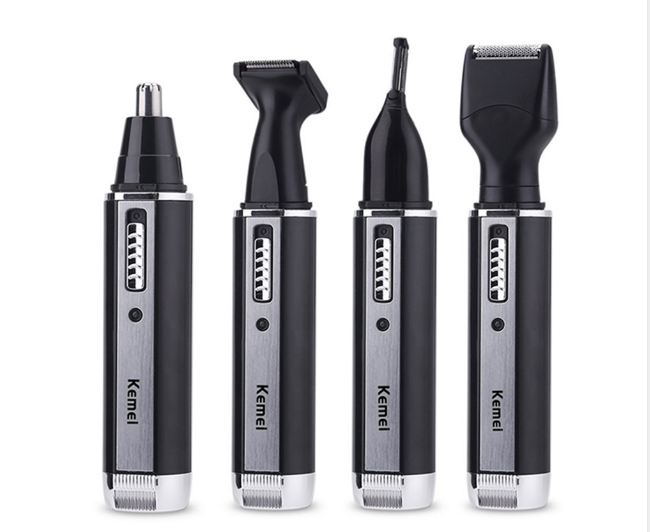 4 in one Rechargeable nose hair trimmer for men trimer ear face eyebrow nose hair removal eyebrow Trimmer