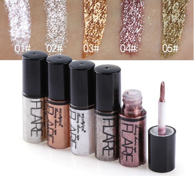 Eye Liner Pen Cosmetics for Women Silver Pink Gold Liquid Glitter Eyeliner Makeup Beauty Tools