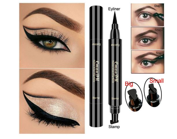 Eyes Make Up Pencil Black Double-ended Makeup Seals Waterproof Pencil Eyeliner Pencil Style