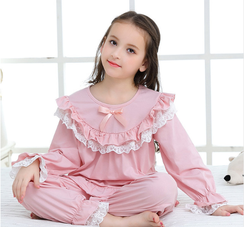 Girl Pajama Set Kids Home Cloth Girls Pyjamas Cotton Long Sleeve