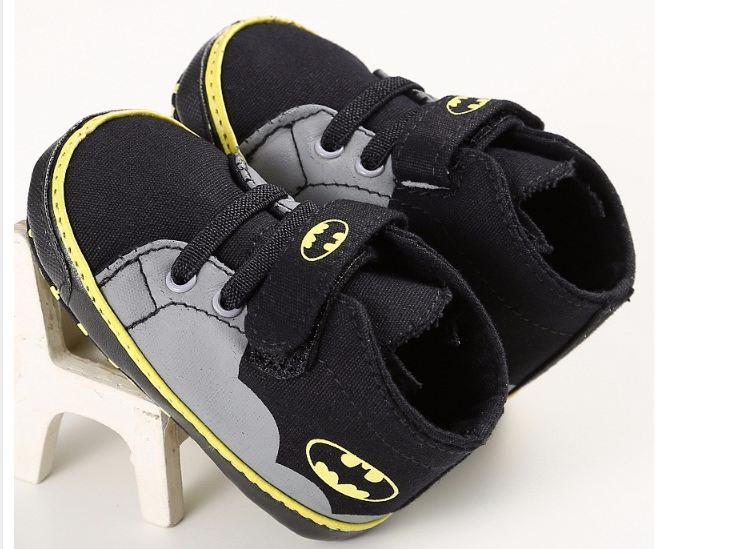 Baby Shoes Boys Girls Toddler Cartoon Batman Canvas Kids Footwear Casual Sneakers