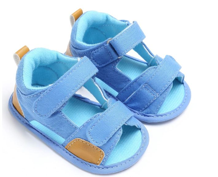 Boy Summer Soft Toddler First Walkers Shoes Moccasins Fashion Casual Cotton Bottom Anti-Slip Footwear