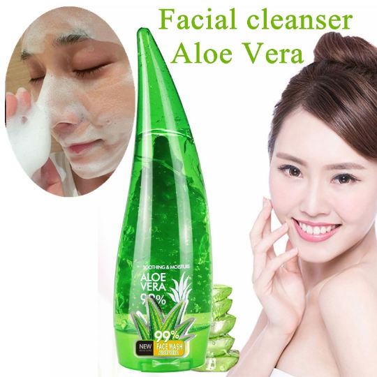 Aloe Facial Cleanser Aloe Vera Skin Care Remove Acne Moisturizing Durable Aloe Vera Facial