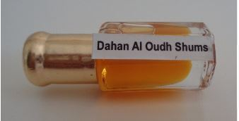 Famous and Traditional of India Attar 6 ml Concentrate Dahan Al Oudh Shums Perfume Oil,