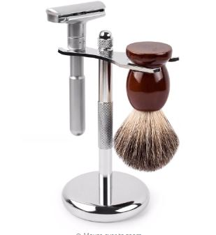 Safety Razor Double Edge QSHAVE Adjustable Classic Mens Shave Smooth for Aggressive 1-6 File Hair Removal Shaver it with Blades