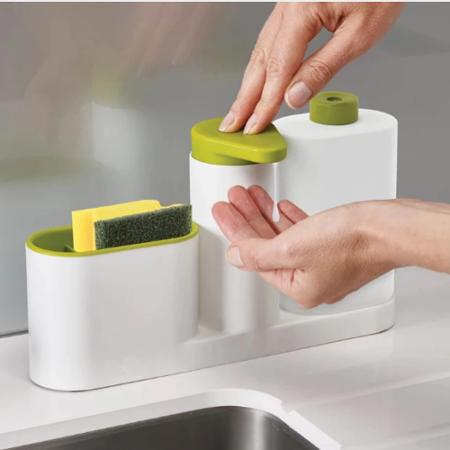Multifunctional Washing Sponge Storage Sink Detergent Soap Dispenser