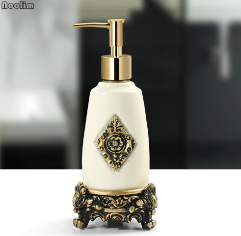 Portable Creative Ceramic Lotion Bottle Ice Cracked Porcelain Hand Wash