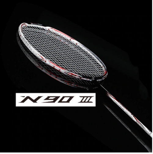 N90 III carbon badminton racket with string and overgrip