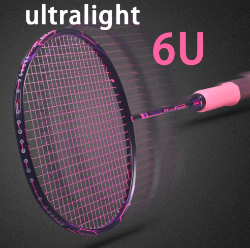 Super Light 6U Carbon Badminton Rackets Professional Offensive And Defensive Raquetas