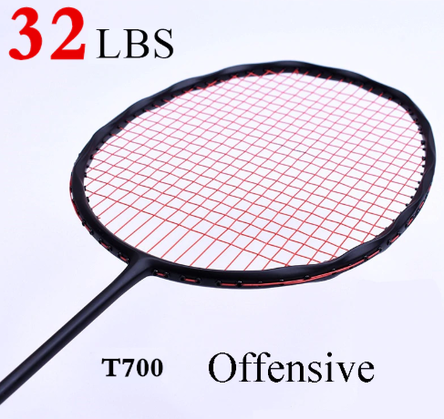Curve Shape Speed Smash Carbon Badminton Racket