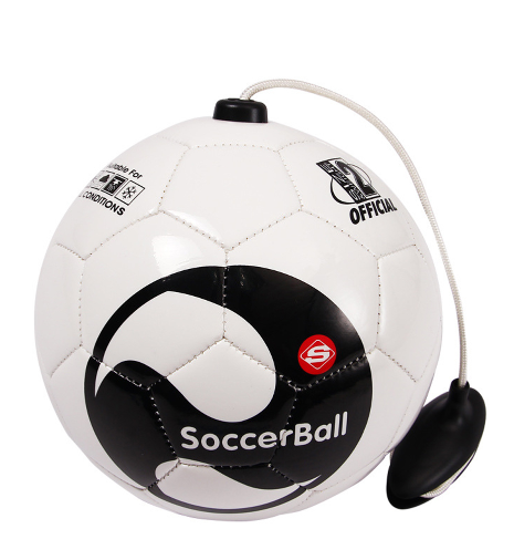 soccer ball size 2 with rope football Kick beginner Practice Belt