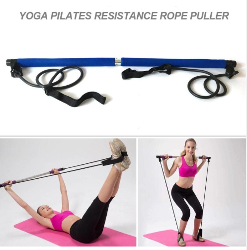 Body Abdominal Resistance Rope Puller Multi functional Yoga Rally Rod