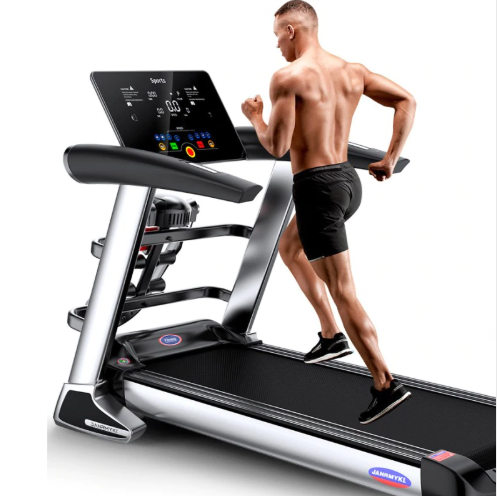 HD LCD Color Screen Electric Treadmill Bluetooth Multifunctional Exercise Treadmill