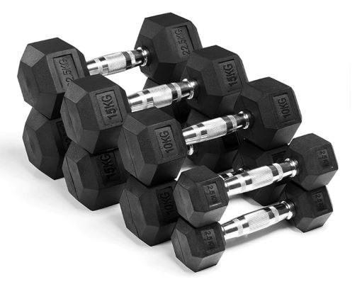 Dumbbell Rubberized Gym Dumbbell Fixed Dedicated Kg 5 Muscle Training Arm Fitness Men's Good Quality