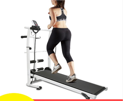 Multifunction Mute mechanical treadmill mini folding running training fitness treadmill