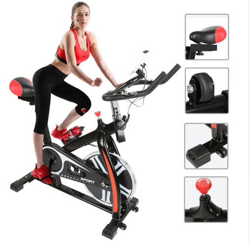 Pedal exercise bicycle mute household magnetic stationary exercise bike indoor fitness