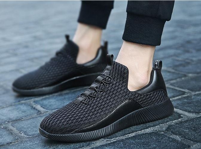 Breathable Trainers For Men Fashion Cross Striped Outdoor