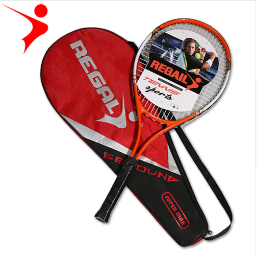 1pcs red blue 67X27cm quality adult training novice practice aluminum tennis racket with tennis racket storage bag