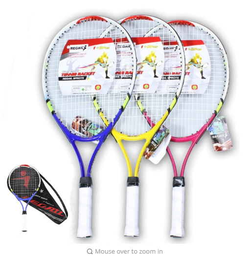 1Pc Teenager's Training Tennis Racket Carbon Fiber Top Steel Racquet