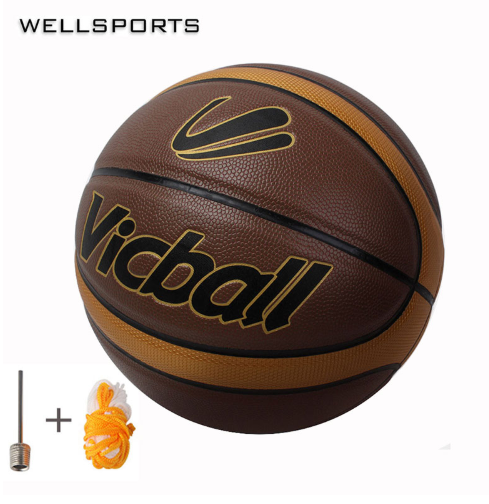PU Leather Basketball Ball Size7 Basket Ball With Net Bag+ Needle