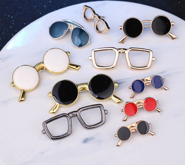 Eyewear Fashion Glasses Eyeliner Oil Pins and Brooches Men's Suit of Collar Men's Dress Shirt Clothing & Accessories