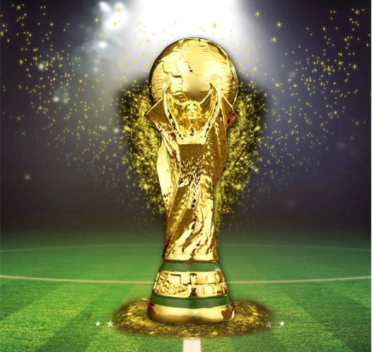 Passion Gold World Cup Soccer Trophy Football Champion Souvenir Gift Home Decoration Creative Football Fan Gift For Men