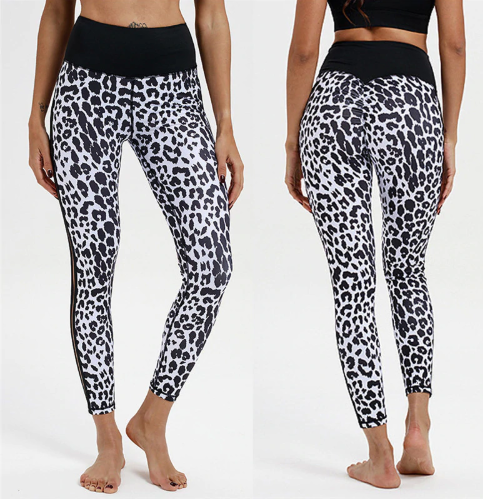 Women's Yoga Panther Printed Yoga Garment Sports Bottom Pants