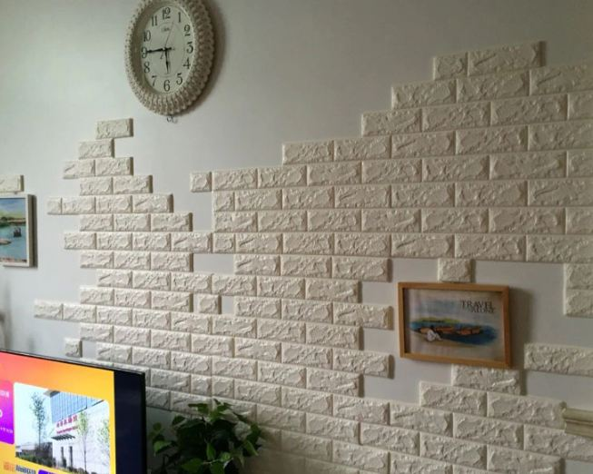 60*30cm 3D Self Adhesive Foam Brick Wall Stickers for Kids room DIY Bedroom for Home Decor Wallpaper