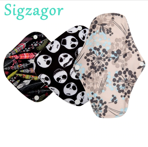 XS,S,Long Panty Liner Cloth Menstrual Pad,Bamboo Charcoal,Mama Cloth Menstrual Sanitary