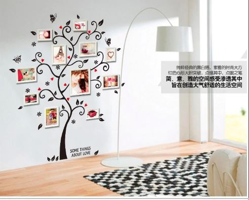 Removable Tree Photo Wall Decals Pvc / Adhesive Wall Art Wall Sticker Decor