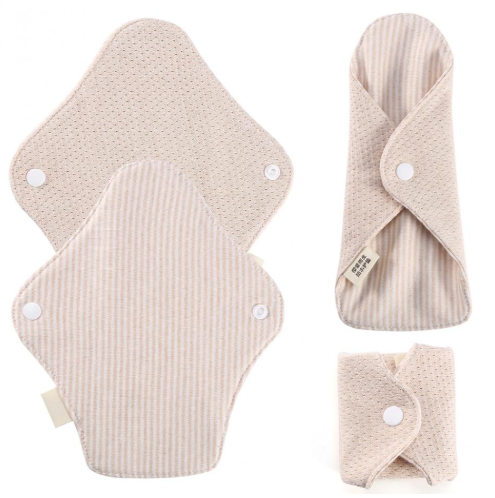 180 x 65mm Reusable Cotton Menstrual Pads Sanitary Napkins Washable Menstrual Sanitary Pad