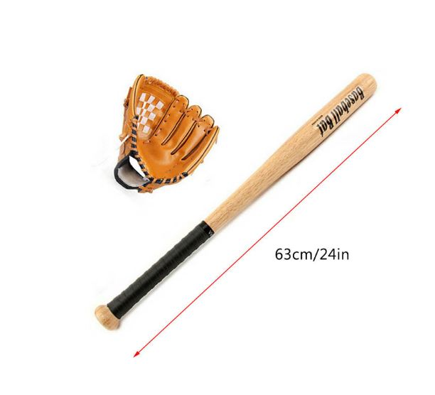 Aluminum Children's Baseball Set Baseball Rod + Gloves + Baseball Good Gift Three Pieces For Kids