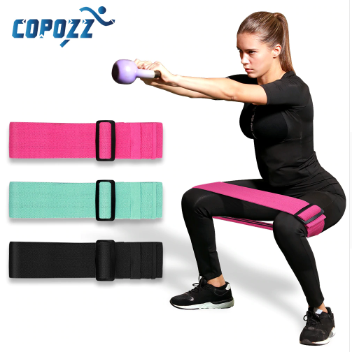 COPOZZ Adjustable Hip Loop Resistance Bands for Legs and Butt Anti Slip Roll Up Workout Elastic Booty Bands