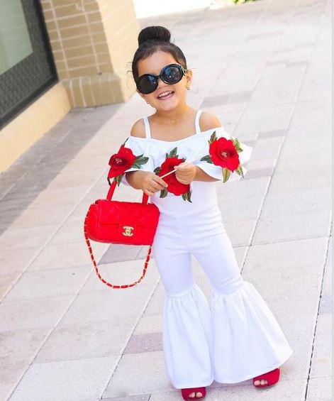 Girls Autumn Baby rose white shirt + bell-bottom pants set high quality children's clothing casual wear princess fashion
