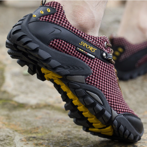 summer outdoor hiking shoes men breathable mesh camping climbing trekking shoes