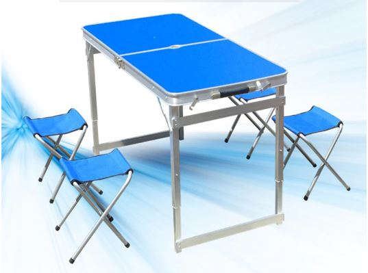 Chair Aluminum Alloy Camping Chair Picnic Table Waterproof Durable Table