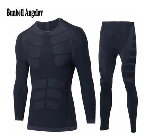 Winter Thermal Underwear Sets Men Quick Dry O-Neck Stretch Men's Thermo Underwear