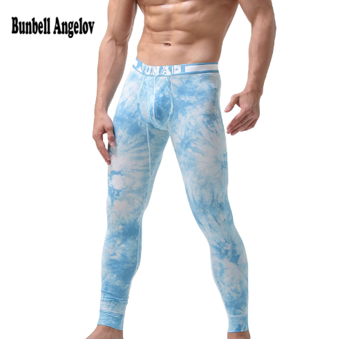 Bunbell Angelov Long Johns Cotton Men Thermal Pants Winter Thin U Waist Underwear