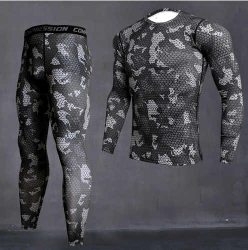 Men's Camouflage Thermal underwear set Long johns winter Thermal underwear