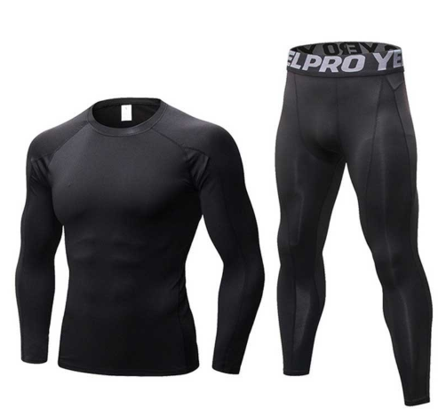 Men Quick Dry Long Johns Winter Fitness Gymming Sporting Suit