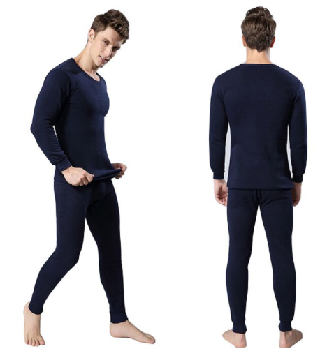 2Pcs Winter Warm Men Cotton Thermal Underwear Sets