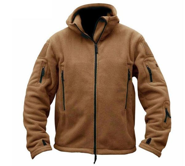 Military Tactical Outdoor Soft Shell Fleece Jacket Men Army Sportswear Thermal Hunt Hiking Sport Hoodie