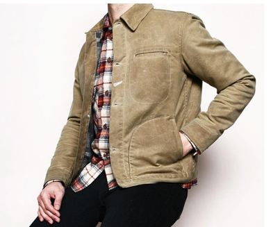 Mens Waxed Canvas Cotton Jacket Military Light Spring Work Jacket