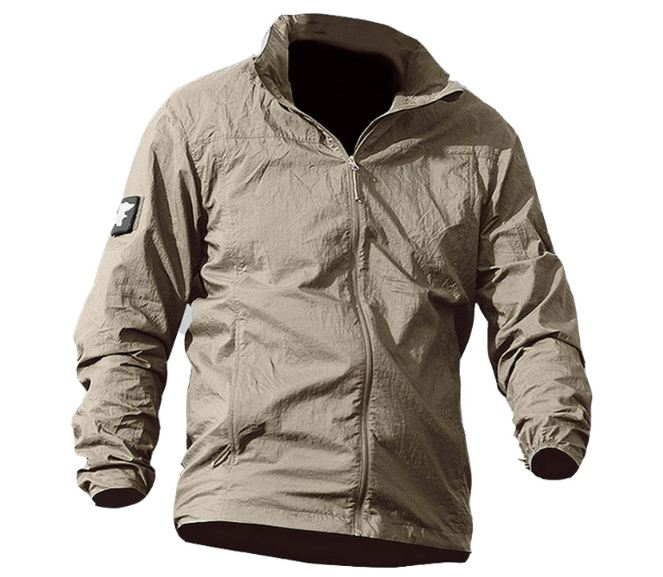 Summer Waterproof Quick Dry Tactical Skin Jacket Men Hooded Raincoat Thin