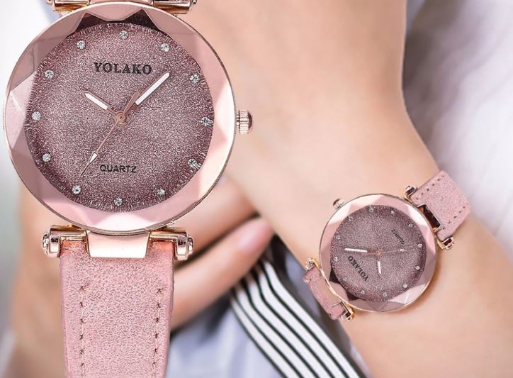 Women's Romantic Starry Sky Wrist Watch Designer Leather Ladies 'Watches